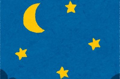 月と星の夜空