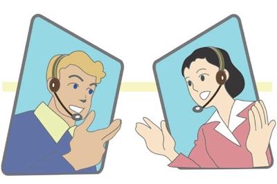 電話受付のオペレーター